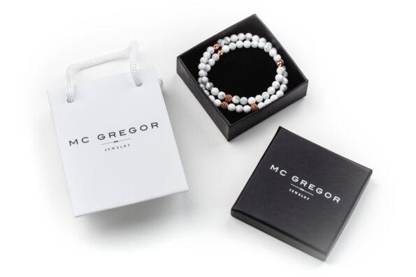 Белый браслет из натуральных камней Mc Gregor Jewelry