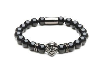 Браслет из агата с черным львом от Mc Gregor jewelry
