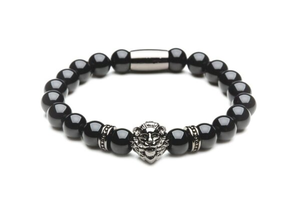 [:ru]Браслет из агата с черным львом от Mc Gregor jewelry[:][:en]Bracelet Lion black from agate[:]
